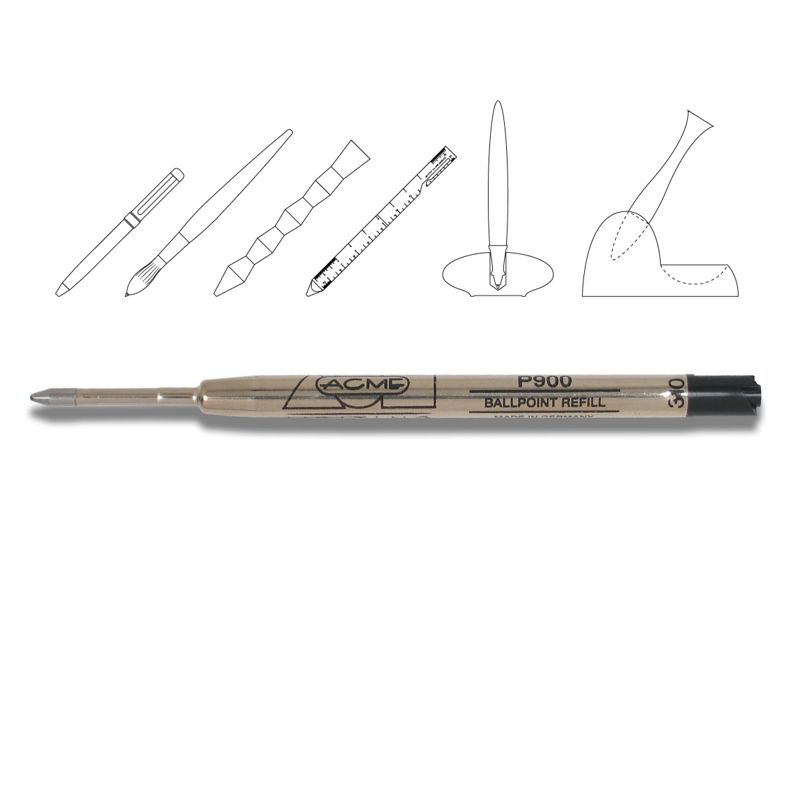 Tool Pen Ballpoint Desk Pen Ballpoint Refill