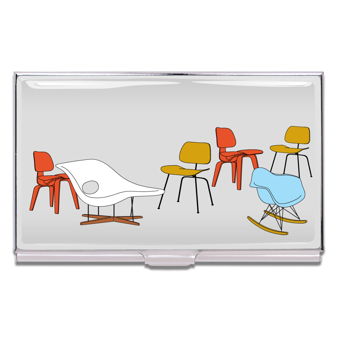 Shop EAMES CHAIRS Business Card Case by Charles & Ray Eames (#CE04BC ...