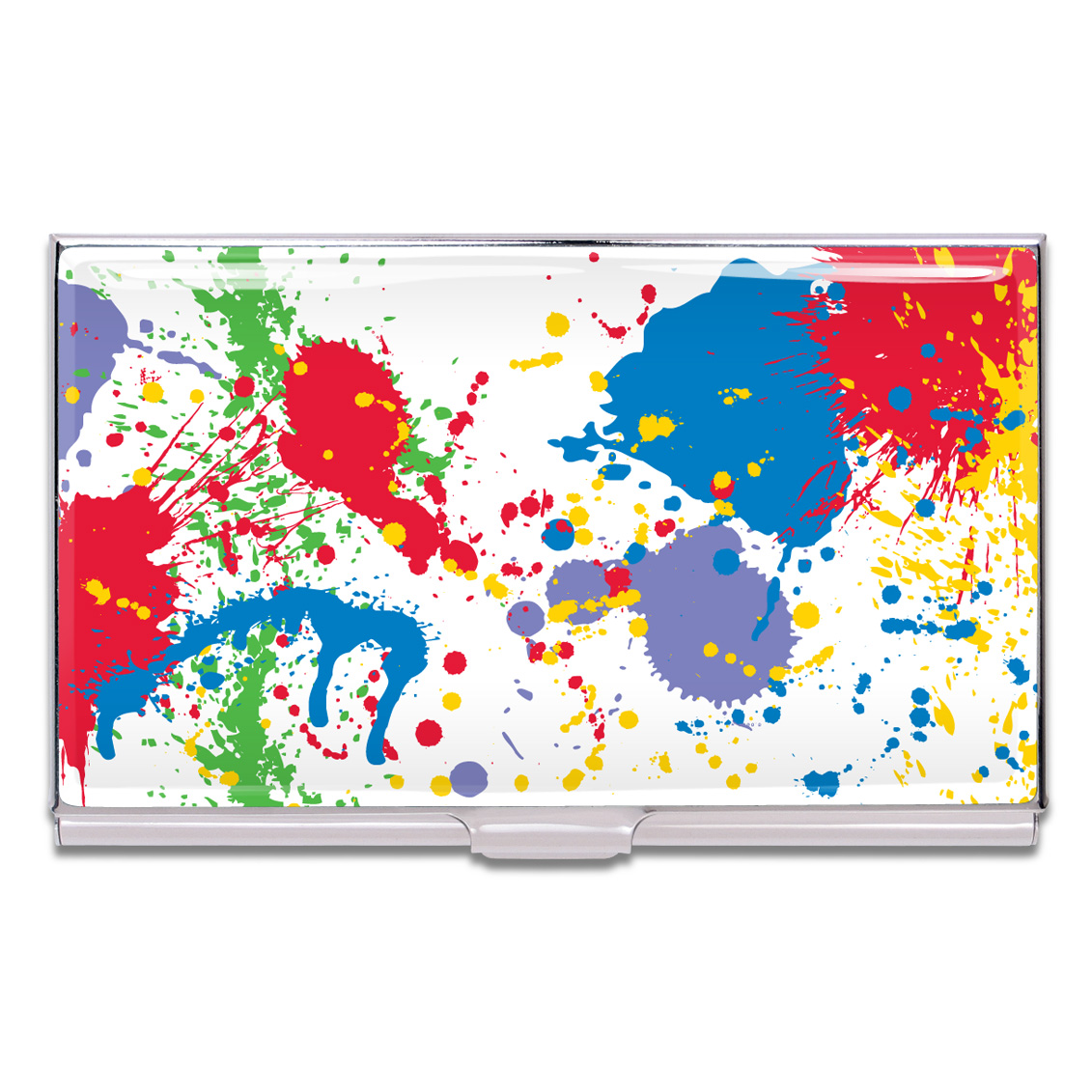 Shop PAINT SPLASH Business Card Case by Norman Moore (#CNM02BC) on ...