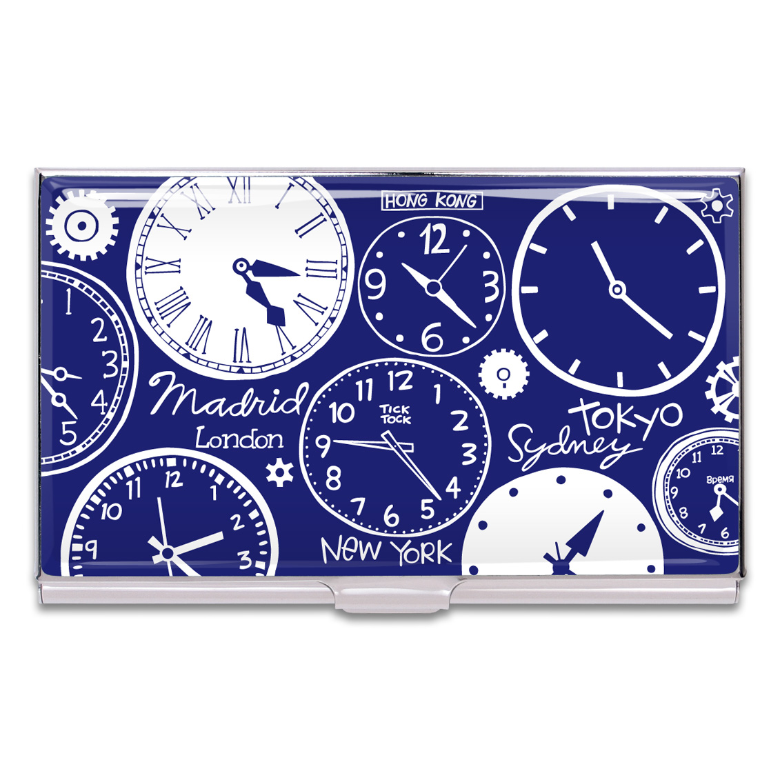 Shop CLOCKS Business Card Case by Nancy Wolff (#CNW05BC) on ACME Studio
